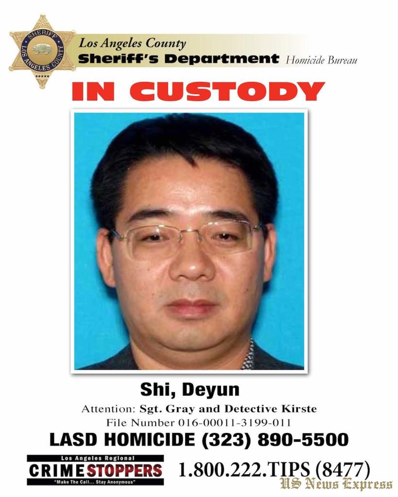 "Double Homicide suspect Deyun ""Jeff"" Shi."