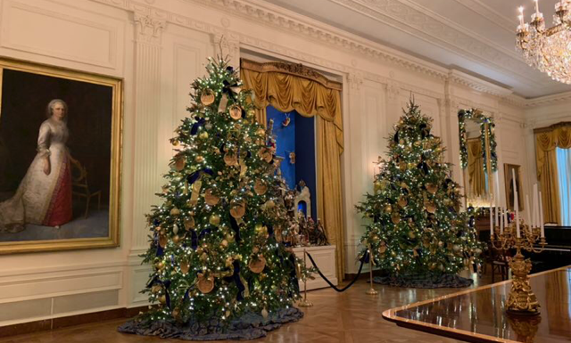 """The theme of this year's decorations is """"American Treasures"""" (by Jennifer Liu)"""